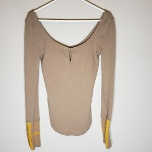 Free People Beige Thermal Size Small